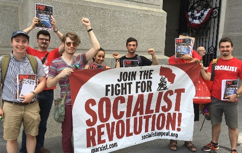 WIL at DNC protest Socialist Appeal United States