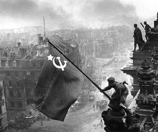 The Soviet flag over the Reichstag 1945 small